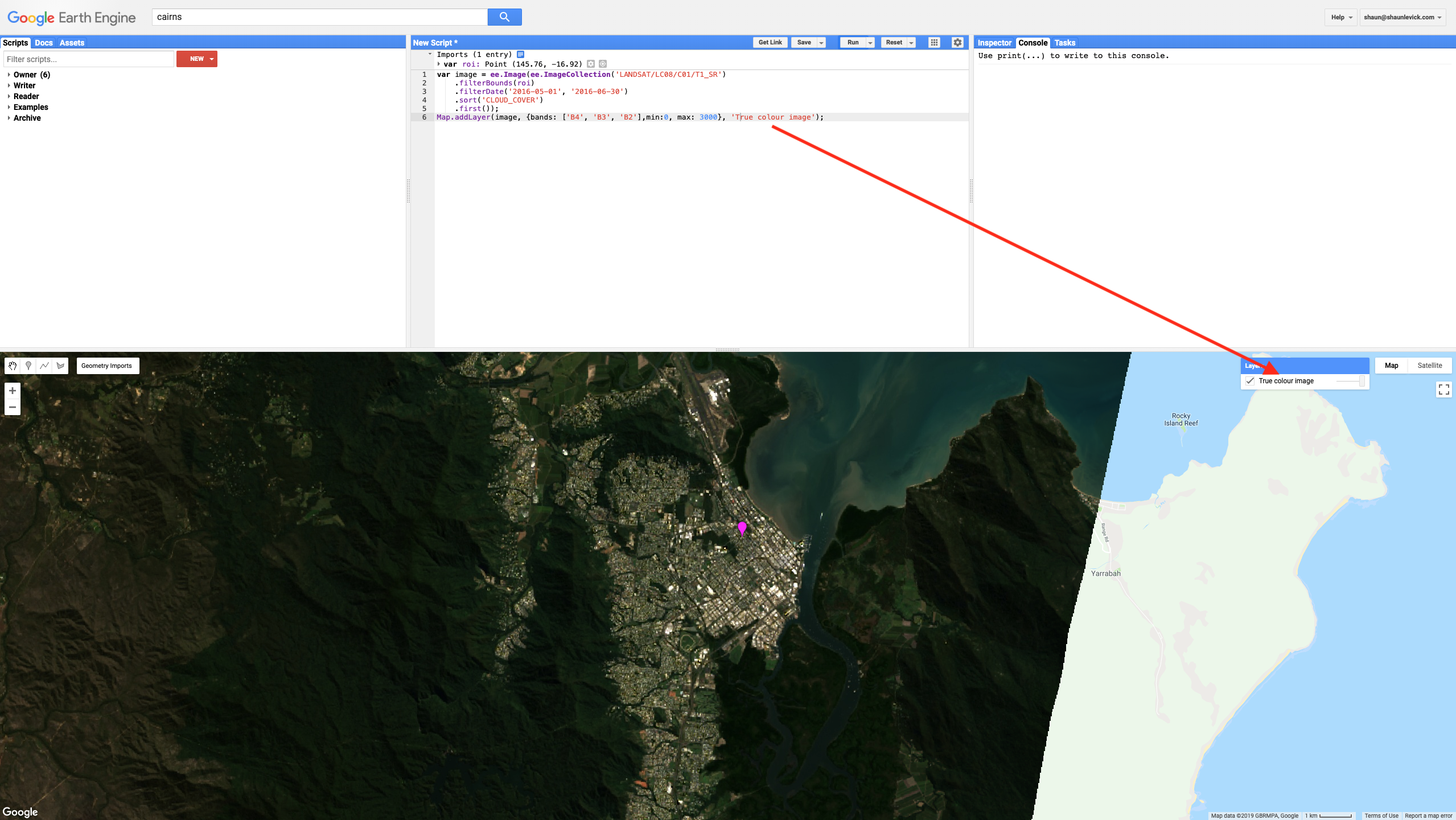 Figure 2. Adding image to map view